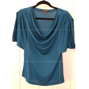 Banana Republic silk draped top Medium